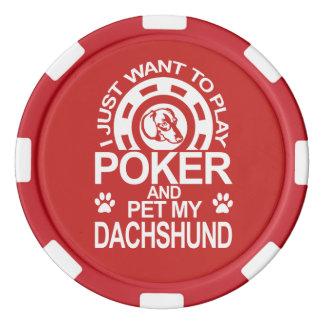 Lot De Jeton De Poker Le tisonnier de jeu et choient mon teckel