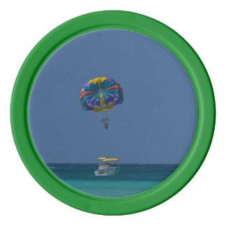 Lot De Jeton De Poker Parachute ascensionnel coloré