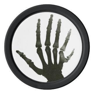 Lot De Jeton De Poker Rayon X squelettique vintage d'os de main