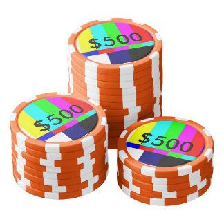 Lot De Jeton De Poker Tisonnier de la vieille école TV jouant les puces