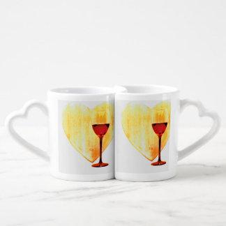 Lot De Mugs Amour et vin