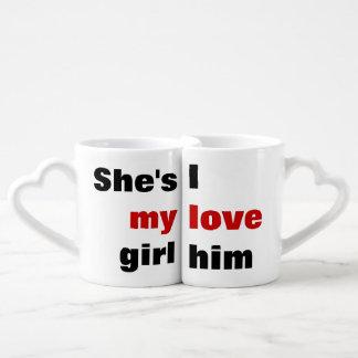 Lot De Mugs amour romantique mignon