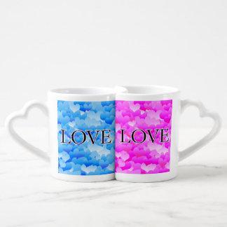 Lot De Mugs Amour rose et bleu