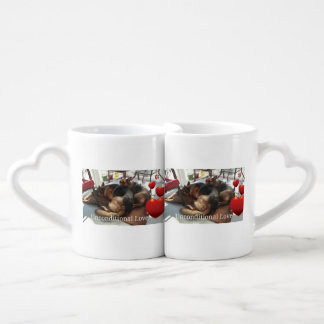 "Lot De Mugs Berger allemand ""amour sans conditions """