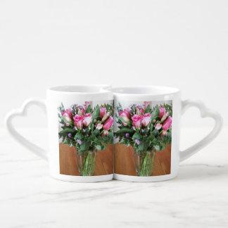 Lot De Mugs Bouquet des roses pour le café