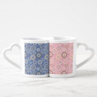 Lot De Mugs Canette Double Enfichable Flores de l'Amour