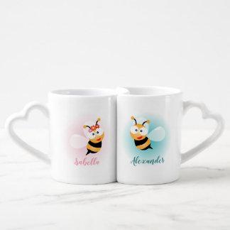 Lot De Mugs Couleur en pastel douce de miel de couples