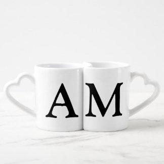 Lot De Mugs couples. elle et ses initiales
