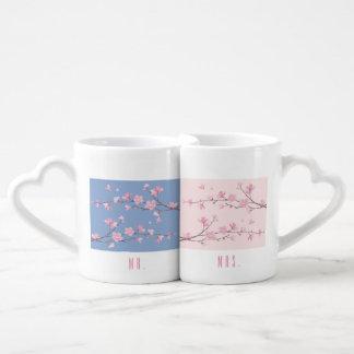 Lot De Mugs Fleurs de cerisier - transparentes - mariage