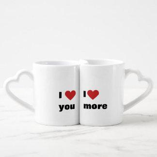 """Lot De Mugs """"Je t'aime"""" et """"je t'aime plus """""""
