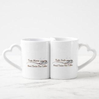 Lot De Mugs Les mamans et les papas jumeaux ont besoin deux