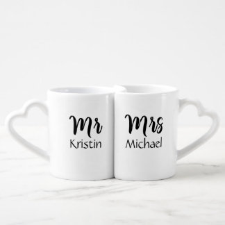 Lot De Mugs M. Son et Mme Him Personalized