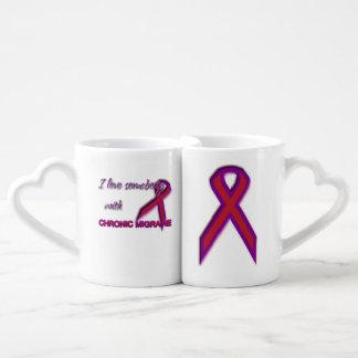 Lot De Mugs Migraine chronique - amour de couples et ensemble