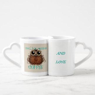 Lot De Mugs Tout que vous avez besoin est amour et café