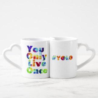 Lot De Mugs #yolo vous vivez seulement une fois qu'ensemble de