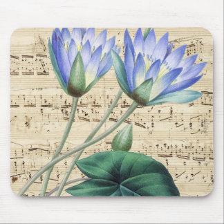 Lotus et musique tapis de souris