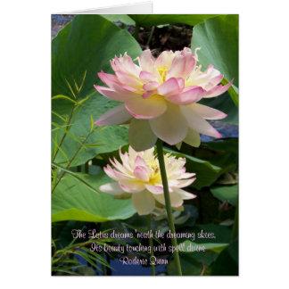 Lotus rêve le 'neath le s rêvant… carte de correspondance