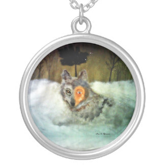Loup courageux pendentifs