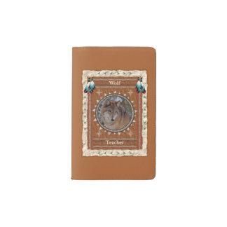 Loup - couverture de velours de coton de carnet de