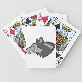 Loup dans le gris lisse jeux de cartes