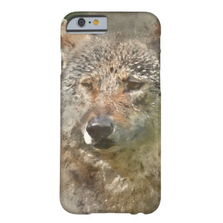 Loup d'aquarelle coque barely there iPhone 6