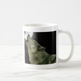 Loup d'hurlement mug blanc