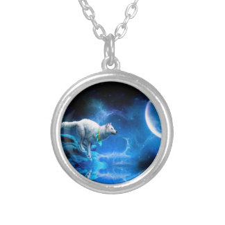 Loup et lune colliers