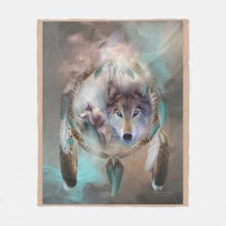 Loup - rêves de couverture d'ouatine d'art de paix