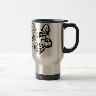 Loup tribal mug de voyage en acier inoxydable