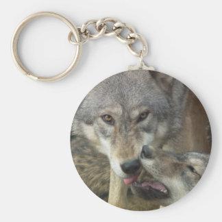 Loups Porte-clé Rond