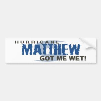 L'ouragan Matthew m'a obtenu en octobre 2016 Autocollant De Voiture