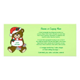 L'ours de Père Noël avec le casquette et le Carte Double Customisable