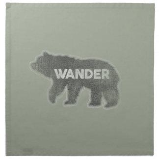 L'ours errent cru (v1) serviettes en tissus