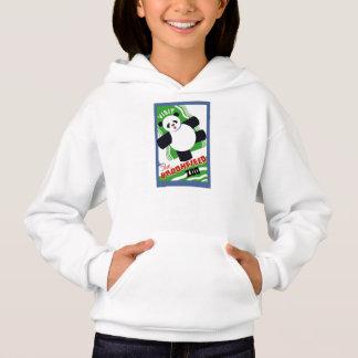 L'ours panda badine le sweat - shirt à capuche