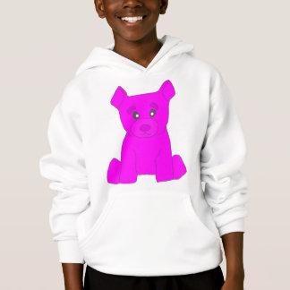L'ours rose badine le sweat - shirt à capuche