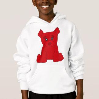 L'ours rouge badine le sweat - shirt à capuche
