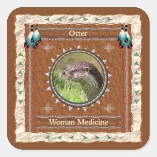 Loutre - autocollants de médecine de femme - 20