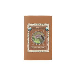 Loutre - couverture de velours de coton de carnet