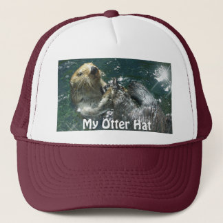 """Loutre de mer de flottement """"mon casquette de"""