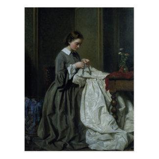 L'ouvrière couturière carte postale