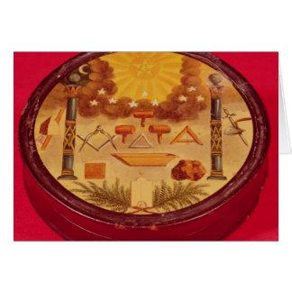 L'ovale a peint la boîte, avec des symboles de carte