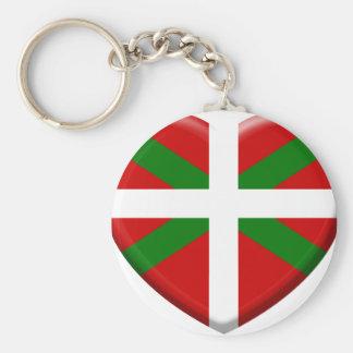 love drapeau pays Basque Porte-clés
