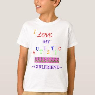 Love~Girlfriend autiste du garçon ! T-shirt de la