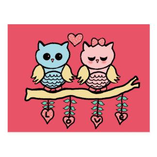 love owls cartes postales