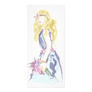 Lovely girl carte double en  couleur