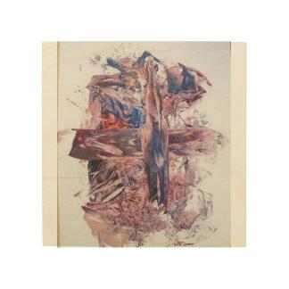 L'rapidité de croix impression sur bois