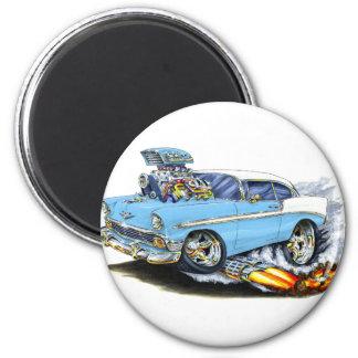 Lt 1956 de Chevy 150-210 Blue Car Aimant Pour Réfrigérateur