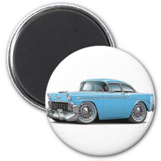 Lt 1956 de Chevy Belair Blue Car Magnet Rond 8 Cm