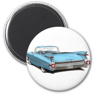 Lt 1959 de Cadillac Blue Car Magnet Rond 8 Cm