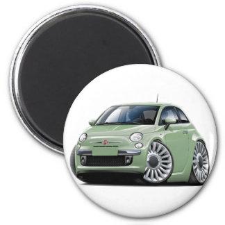 Lt Green Car de Fiat 500 Aimants